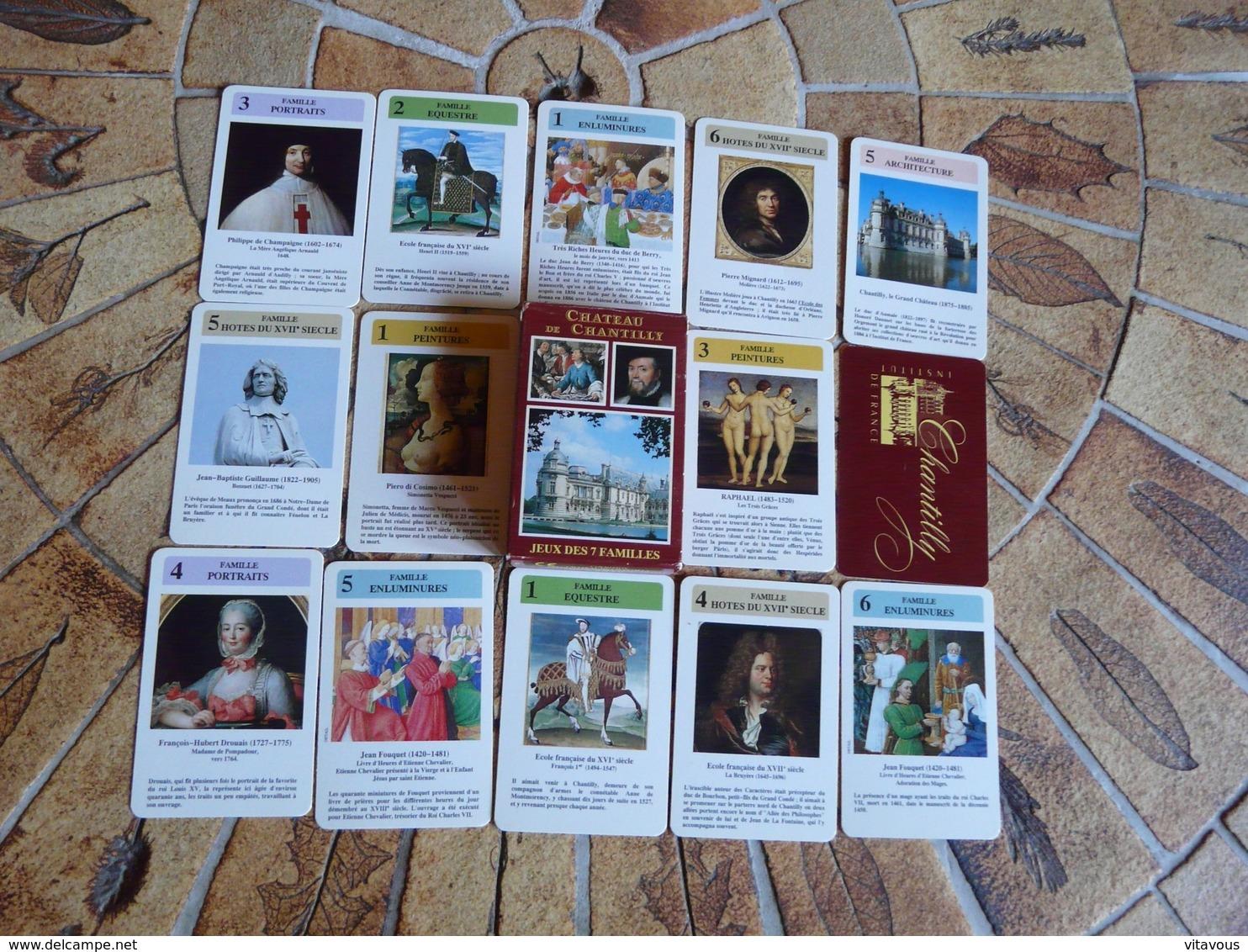 Château De Chantilly - Jeu Des 7 Familles - Cartes à Jouer