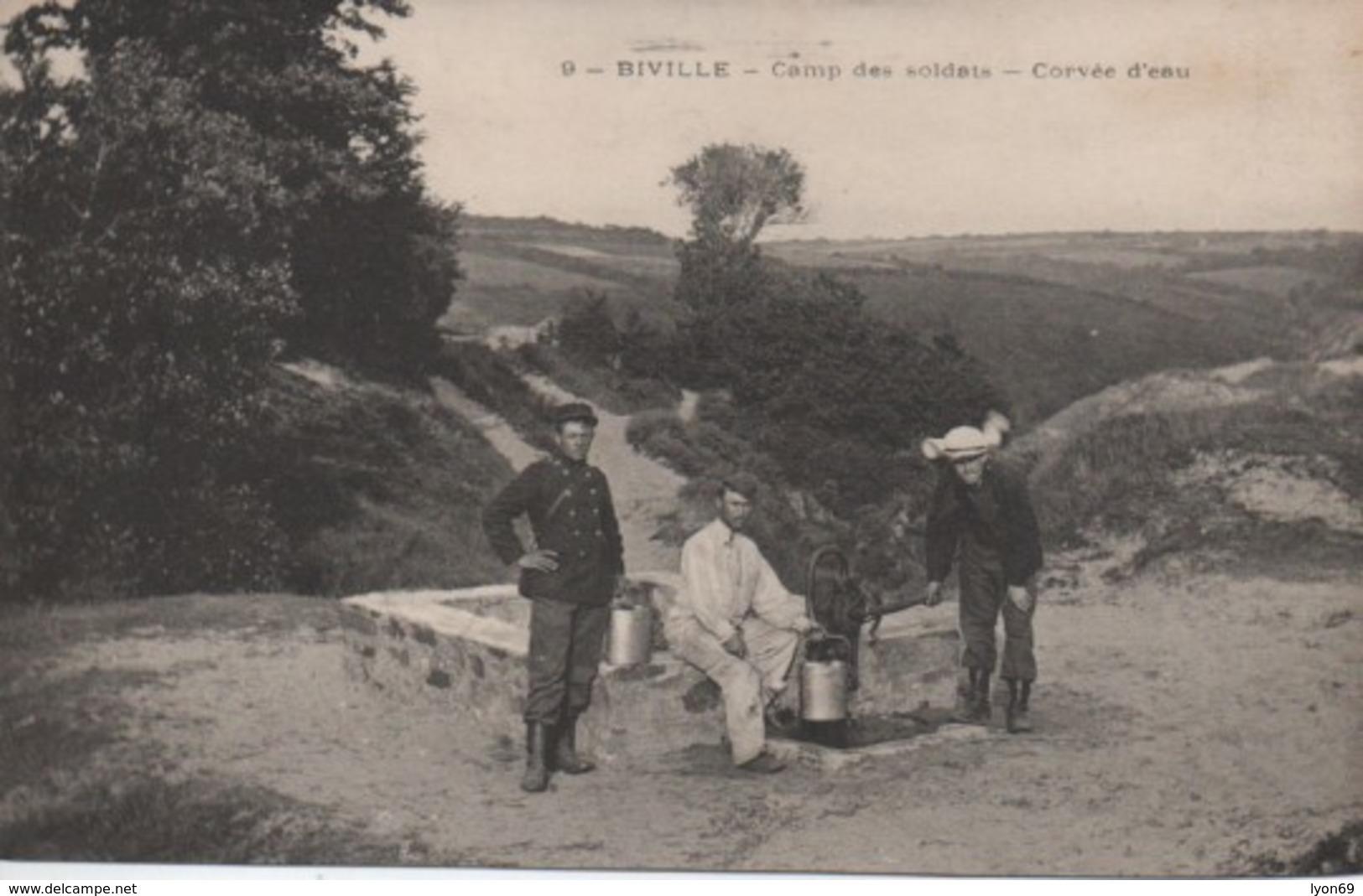 BIVILLE  CAMP DES SOLDATS CORVEE D EAU - France