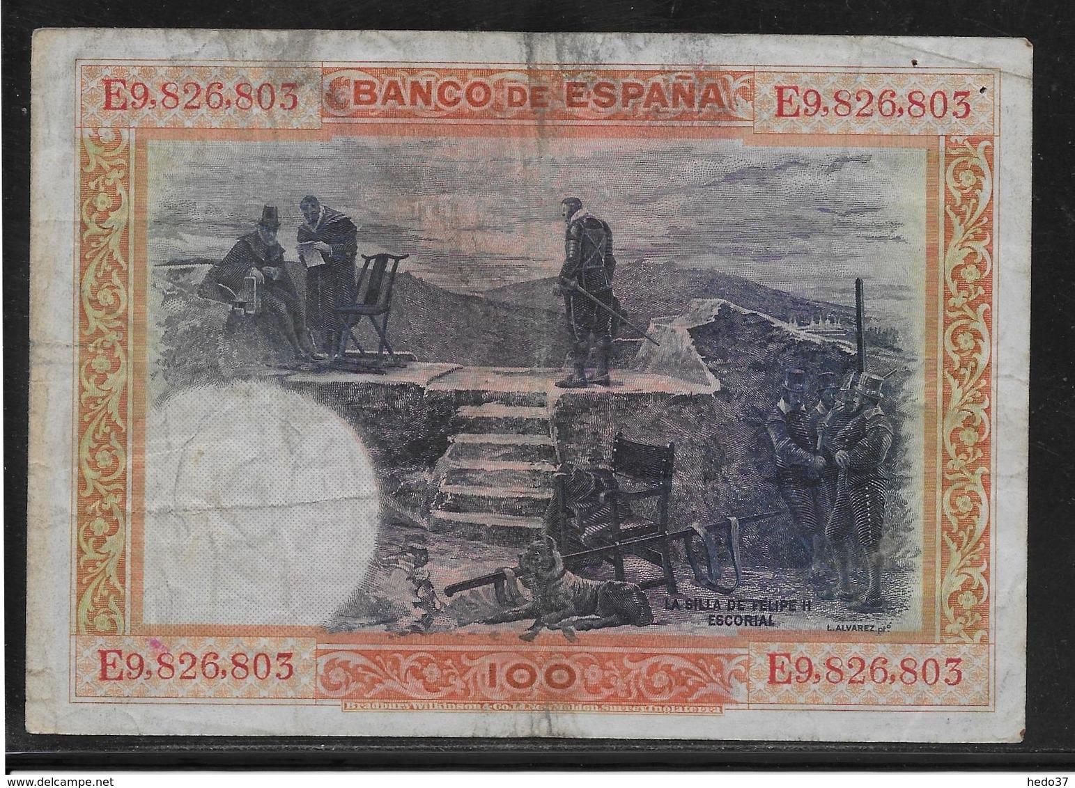 Espagne - 100 Pesetas  - Pick N° 69 - TB - [ 1] …-1931 : Premiers Billets (Banco De España)