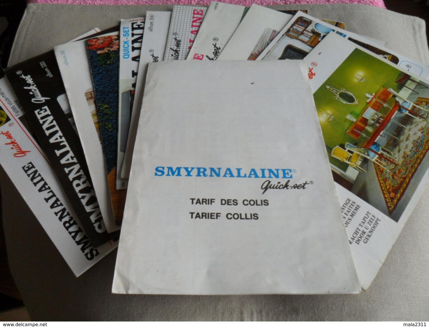 1LOT DE 10 PETITS CATALOGUES  DE MODELES DE TAPIS SMYRNALAINE  A FAIRE SOI- MEME - Laine