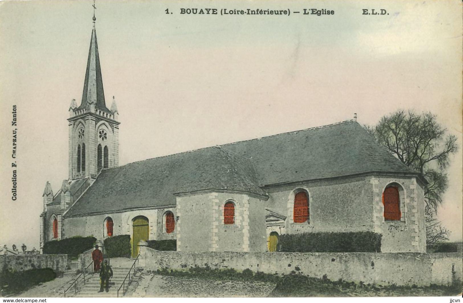44 - Bouaye - L' Eglise (colorisée)  Rare - Bouaye