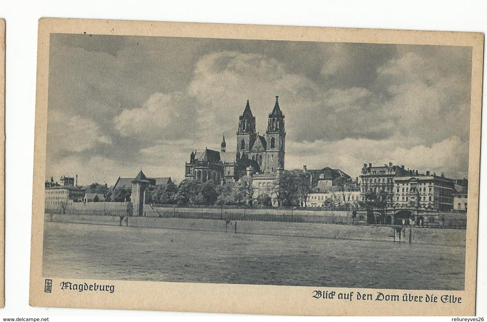 CPA , Allemagne , N° 42 , Magdeburg , Blid Auf Den Dom Uber  Die Elbe , Serie L/1014, Ed. C.F. - Magdeburg