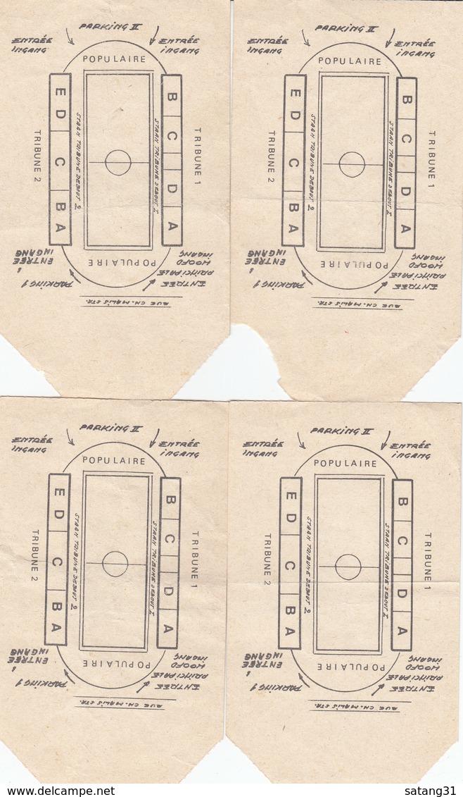 FOOTBALL. 4 TICKET D'ENTRÉE RWD MOLENBEEK-ATLETICO BILBAO. - Tickets D'entrée
