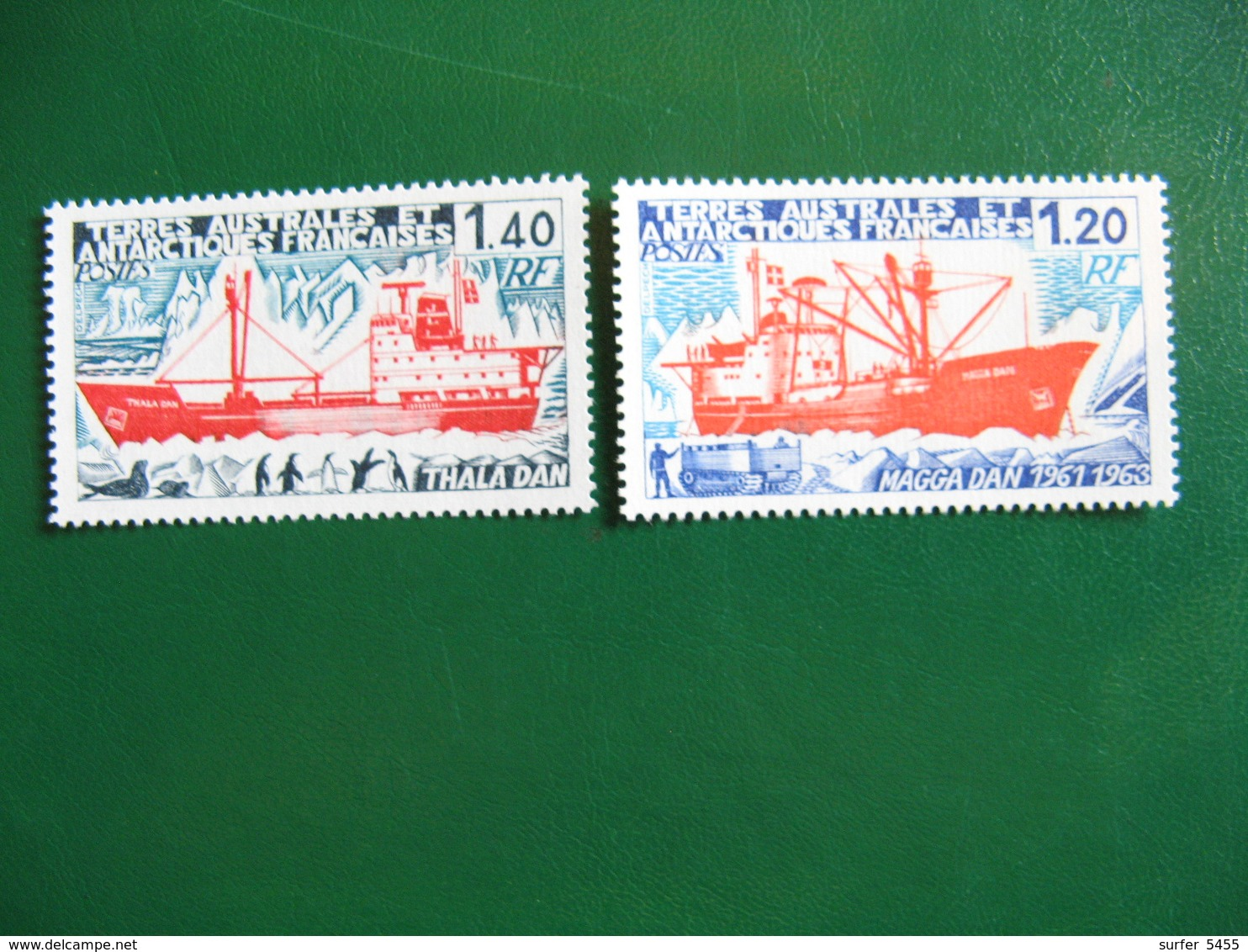 TAAF YVERT POSTE ORDINAIRE N° 66/67 - TIMBRES NEUFS** LUXE - MNH - SERIE COMPLETE - COTE 7,60 EUROS - Terres Australes Et Antarctiques Françaises (TAAF)