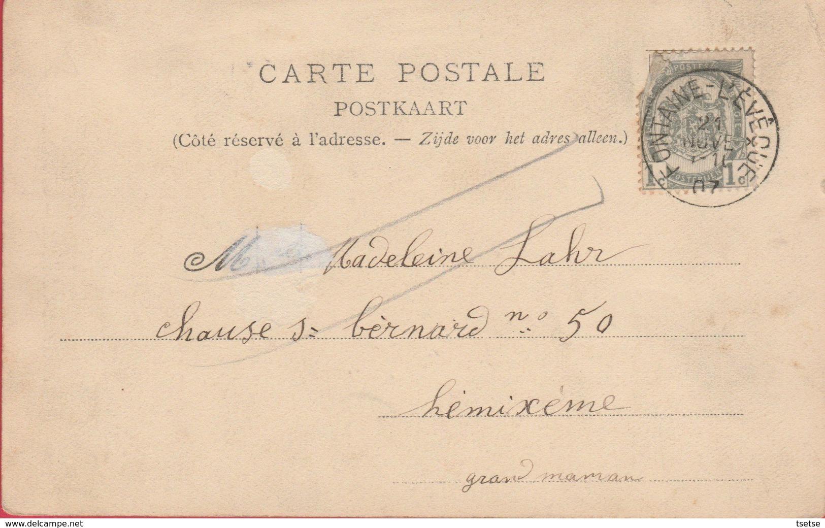 Fontaine-l'Evêque -  Le Château -1907 ( Voir Verso ) - Fontaine-l'Evêque