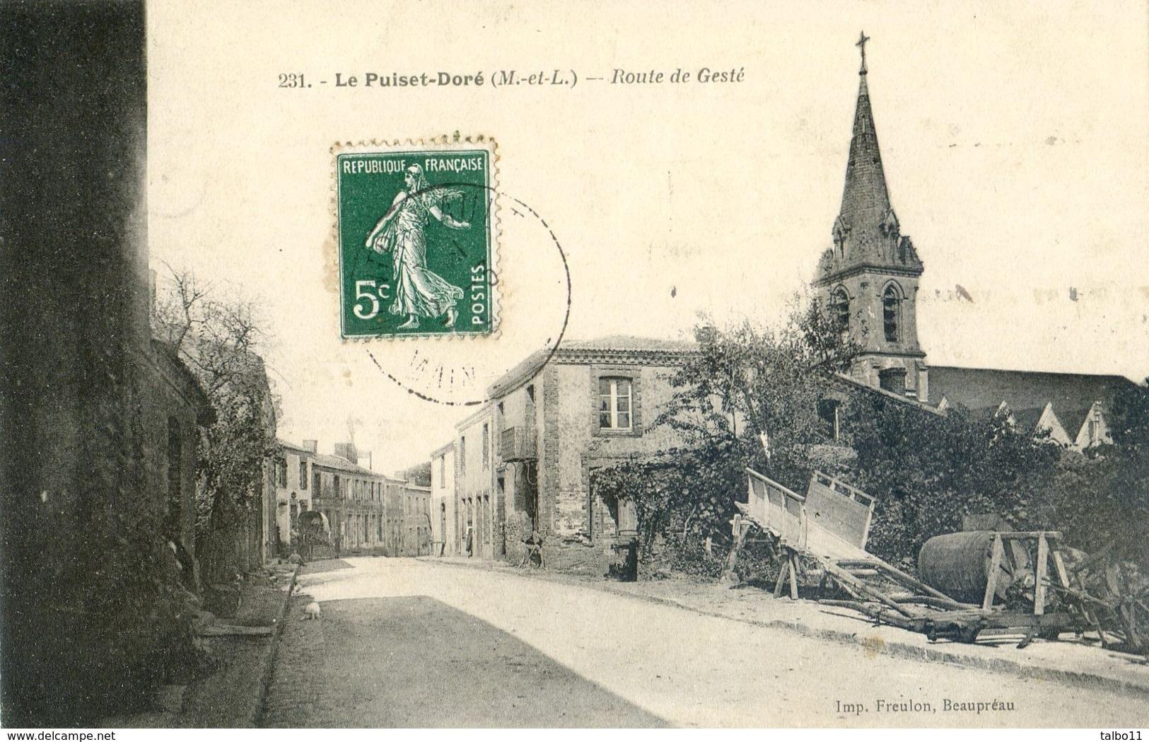 49 -Le Puiset Doré - Route De Gesté - Autres Communes