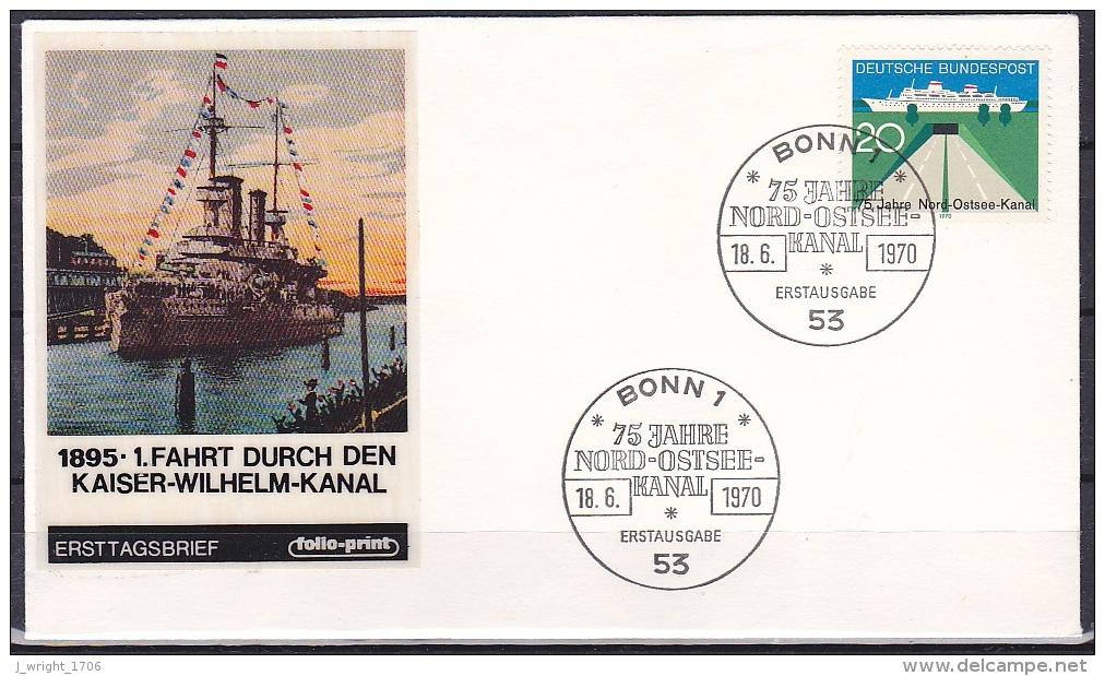 FRG/1970 - Kiel Canal/Nord-Ostsee-Kanal - 20 Pf - FDC - [7] Federal Republic