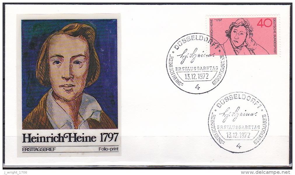 FRG/1972 - Heinrich Heine - 40 Pf - FDC - [7] Federal Republic