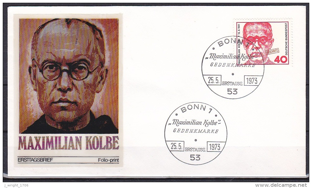 FRG/1973 - Maximillian Kolbe - 40 Pf - FDC - [7] Federal Republic