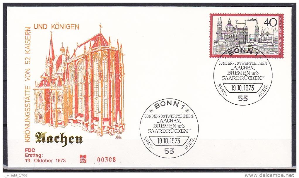 FRG/1973 - Tourism/Fremdenverkehr - 40 Pf Aachen - FDC - [7] Federal Republic