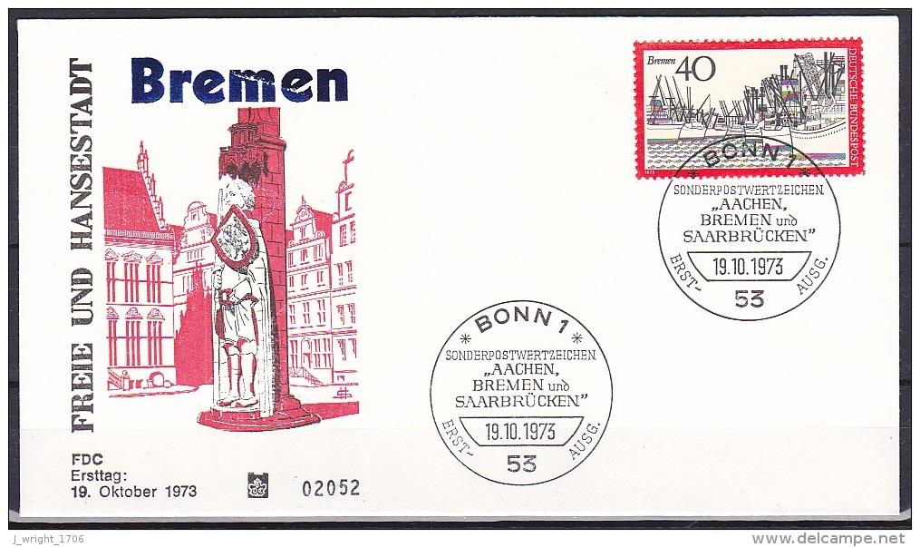 FRG/1973 - Tourism/Fremdenverkehr - 40 Pf Bremen - FDC - [7] Federal Republic