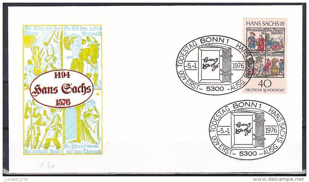 FRG/1976 - Hans Sachs - 40 Pf - FDC - [7] Federal Republic