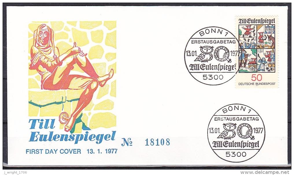 FRG/1977 - Till Eulenspiegel - 50 Pf - Fdc - [7] Federal Republic