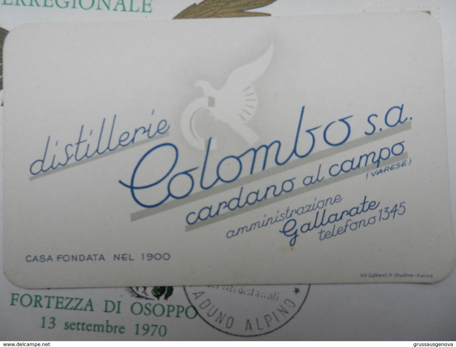 18244) GALLARATE VARESE DISTILLERIE COLOMBO CARDANO AL CAMPO OTTIMO STATO 12 X 7,5 Cm - Non Classificati