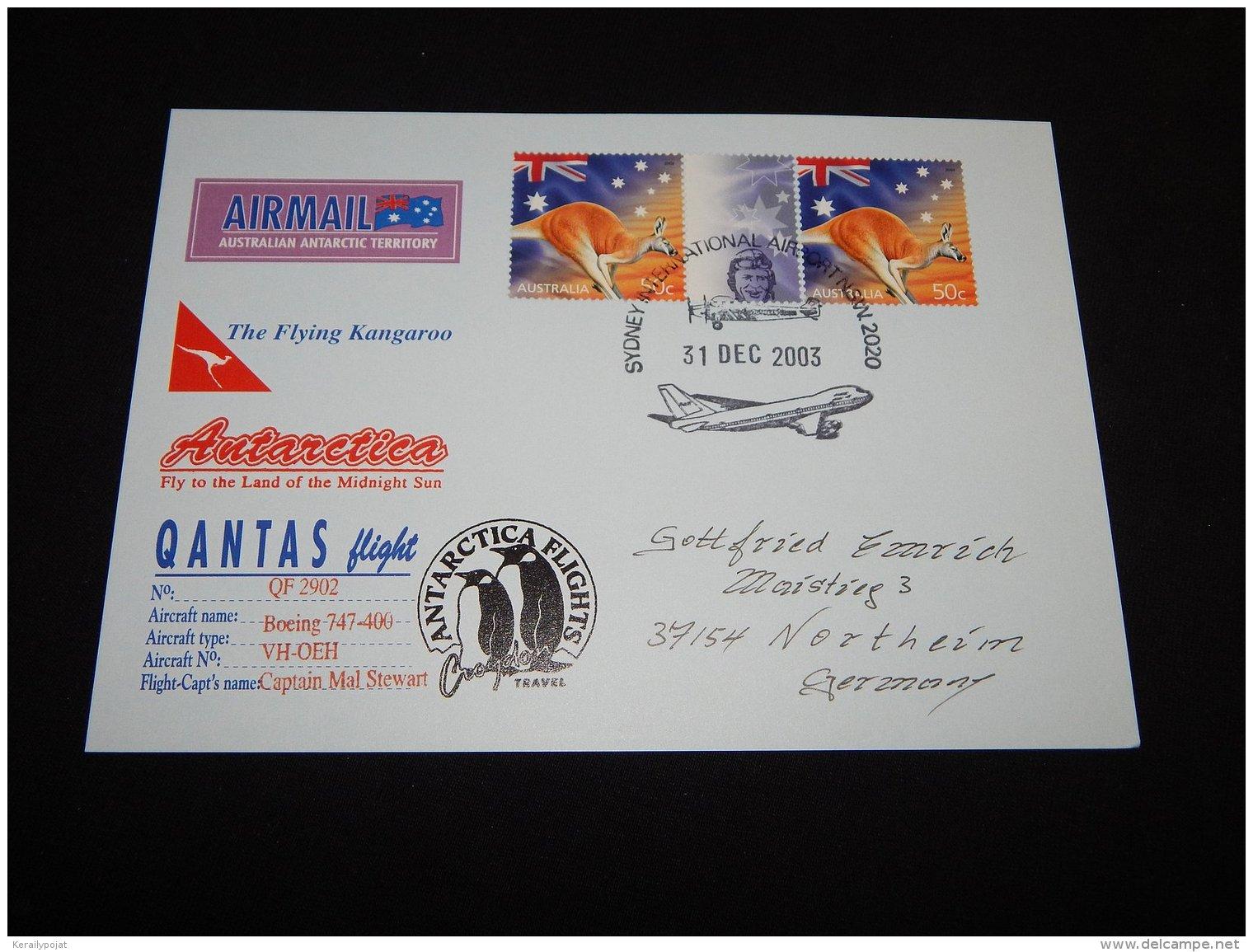 Australia 2003 The Flying Kangaroo Card__(L-23335) - Covers & Documents
