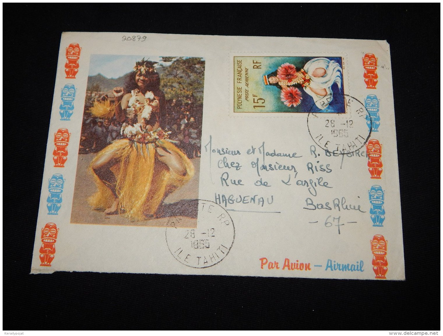 French Polynesia 1965 Papeete Air Mail Cover To France__(L-20879) - Covers & Documents