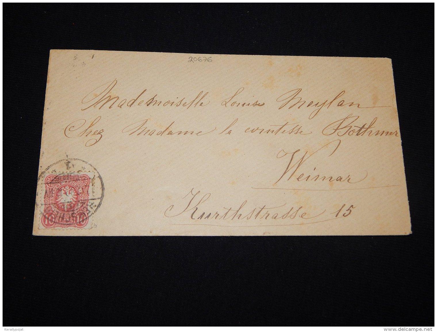 Germany 1898 Remscheid Cover__(L-20676) - Deutschland