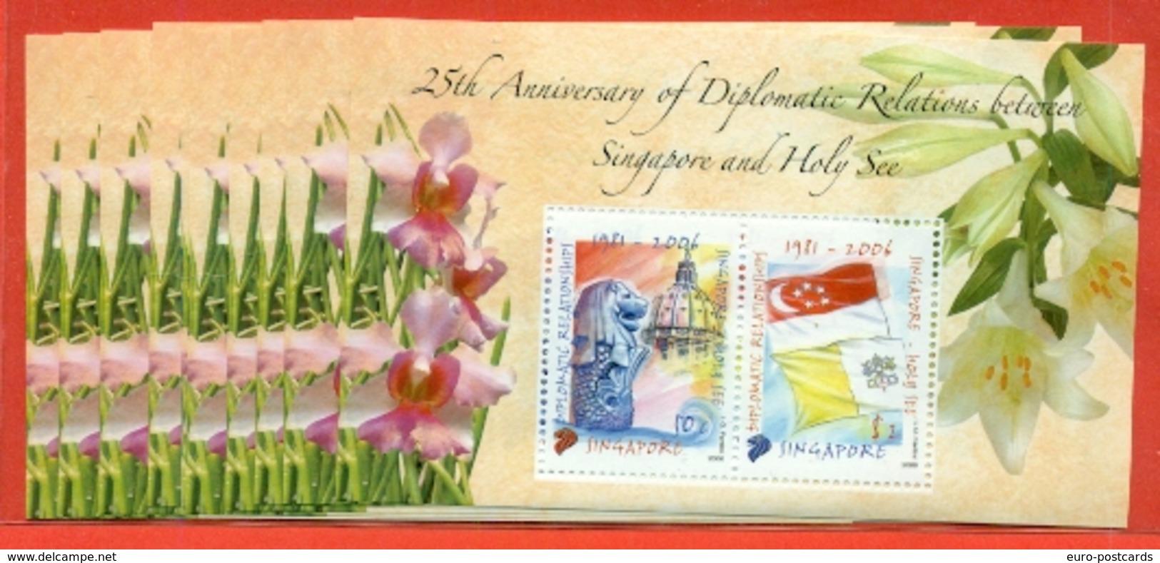 SINGAPORE - 2006 - LOTTO 10 BF. -EMISSIONE CONGIUNTA COL VATICANO-DIPLOMATIC RELATIONSCHIP WITH VATICAN-NEW - Singapore (1959-...)