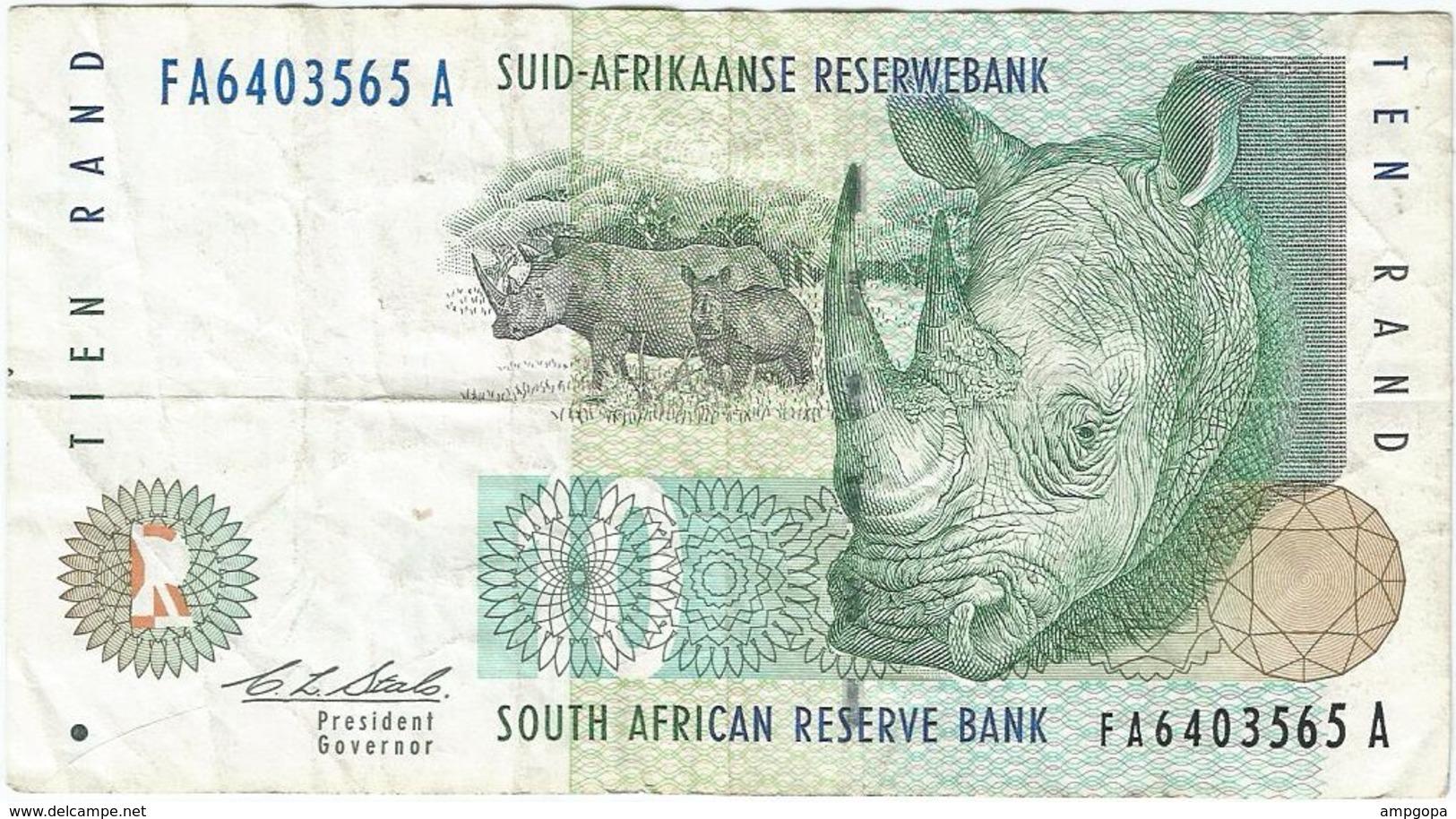 Sudáfrica - South Africa 10 Rand 1993 Pick 123a Ref 1929 - Suráfrica