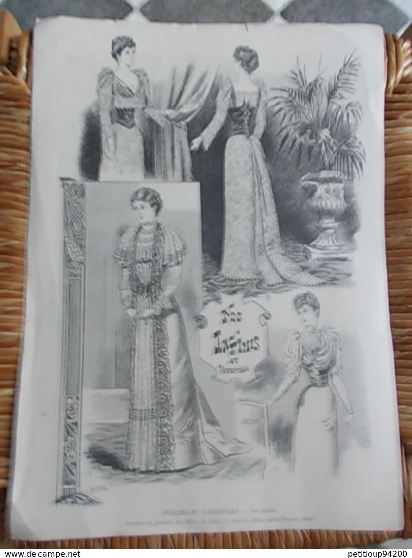 2 ESTAMPES @LE MONDE ILLUSTRE @LA MODE DE STYLE  *Lohengrin  R.WAGNER M.Marold *Nos Intimes V.MICHEL - Prints & Engravings