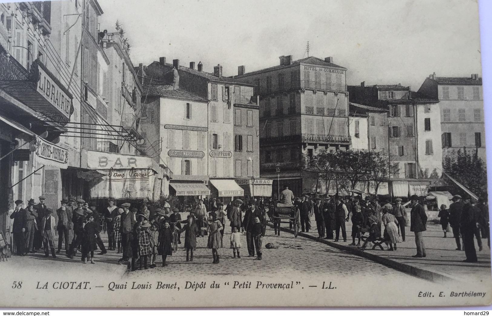 La Ciotat- Quai Louis Benêt, Depot Du «Petit Provencal» - La Ciotat