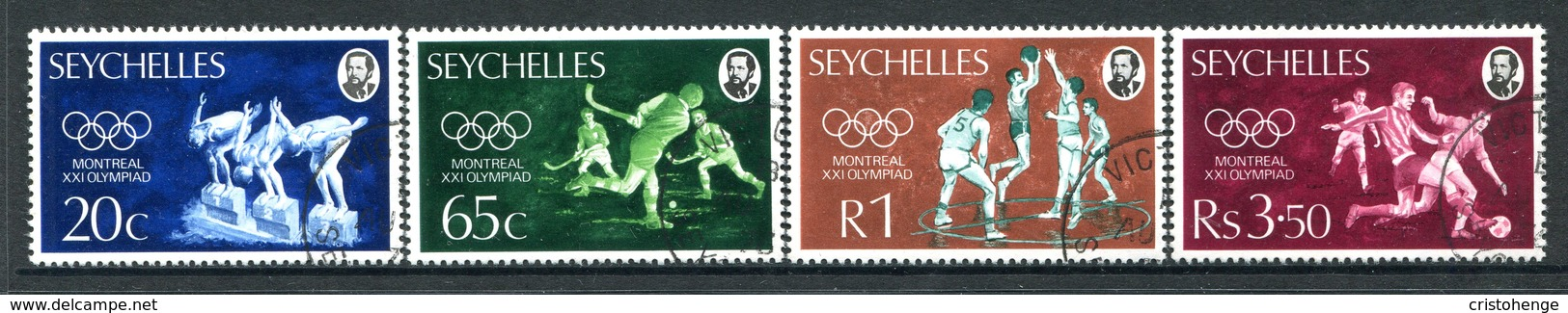 Seychelles 1976 Olympic Games, Montreal Set Used (SG 365-368) - Seychelles (1976-...)
