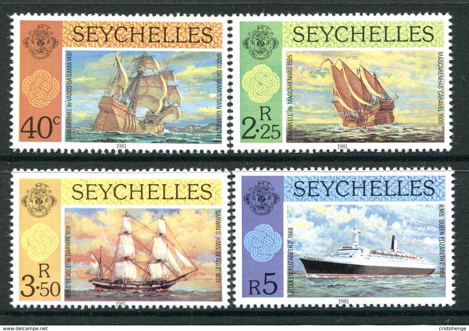 Seychelles 1981 Ships Set MNH (SG 495-498) - Seychelles (1976-...)