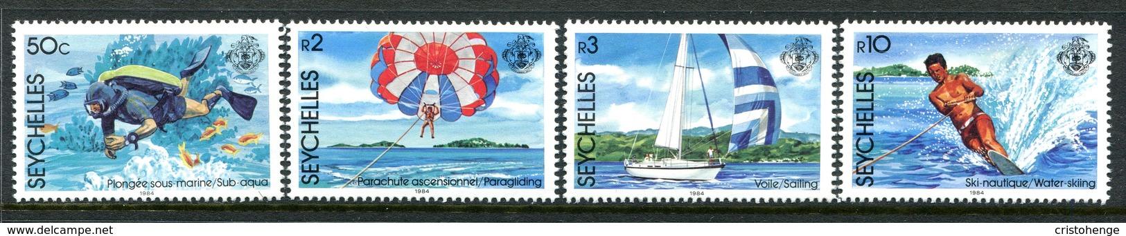 Seychelles 1984 Water Sports Set MNH (SG 597-600) - Seychelles (1976-...)