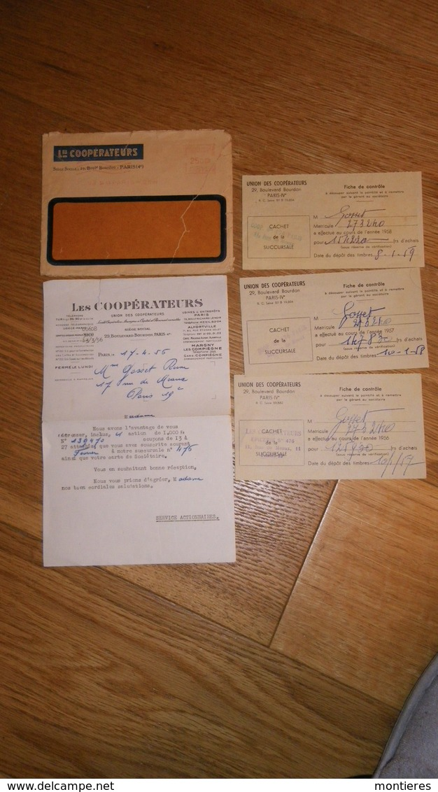 LES COOPERATEURS - Lot De Documents Années 50 Paris IV - Margny Les Compiègne - Alfortville - France