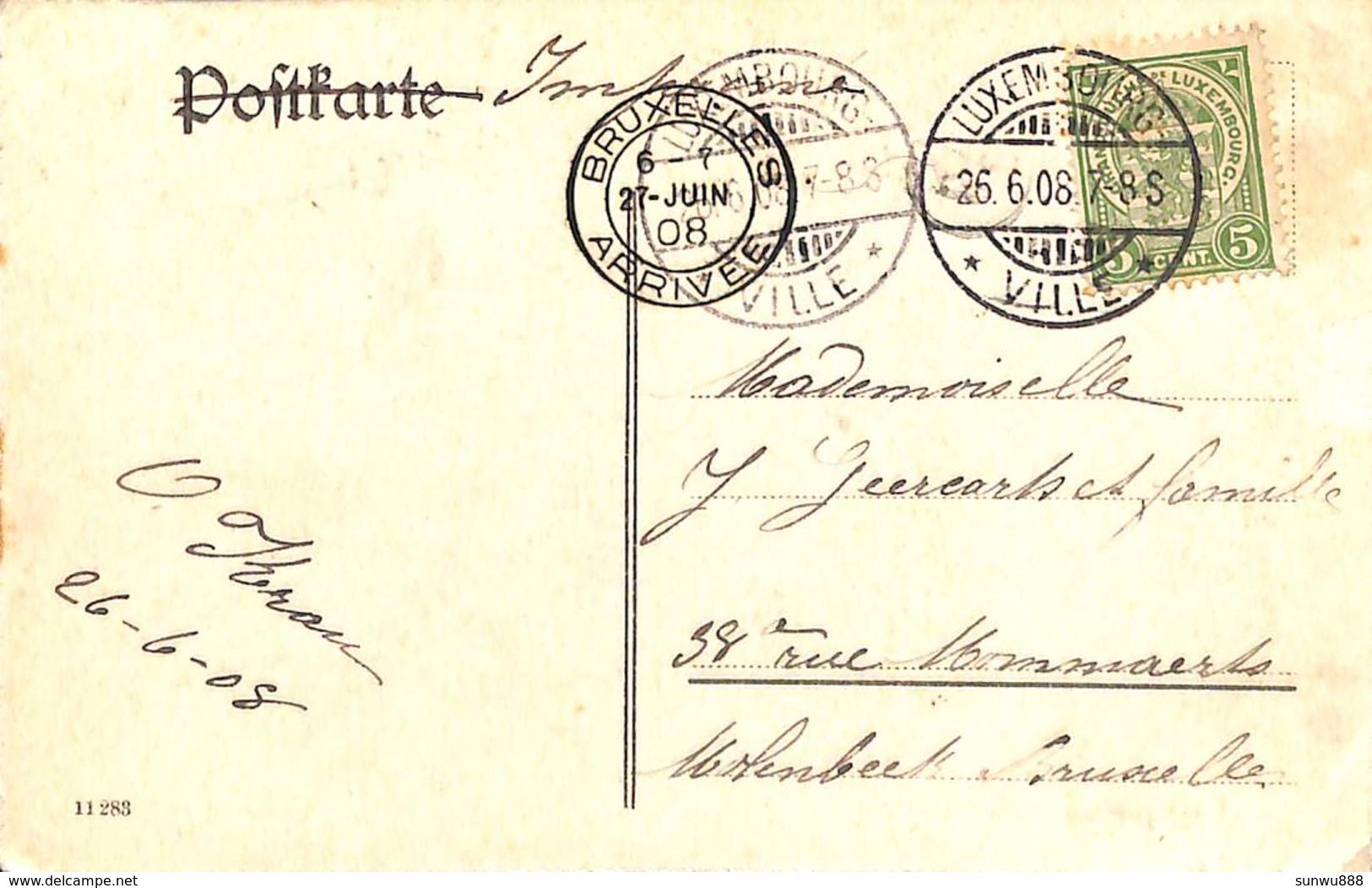 Luxemburg - Adoph Brücke (train Vapeur En Passage, 1908) - Luxembourg - Ville
