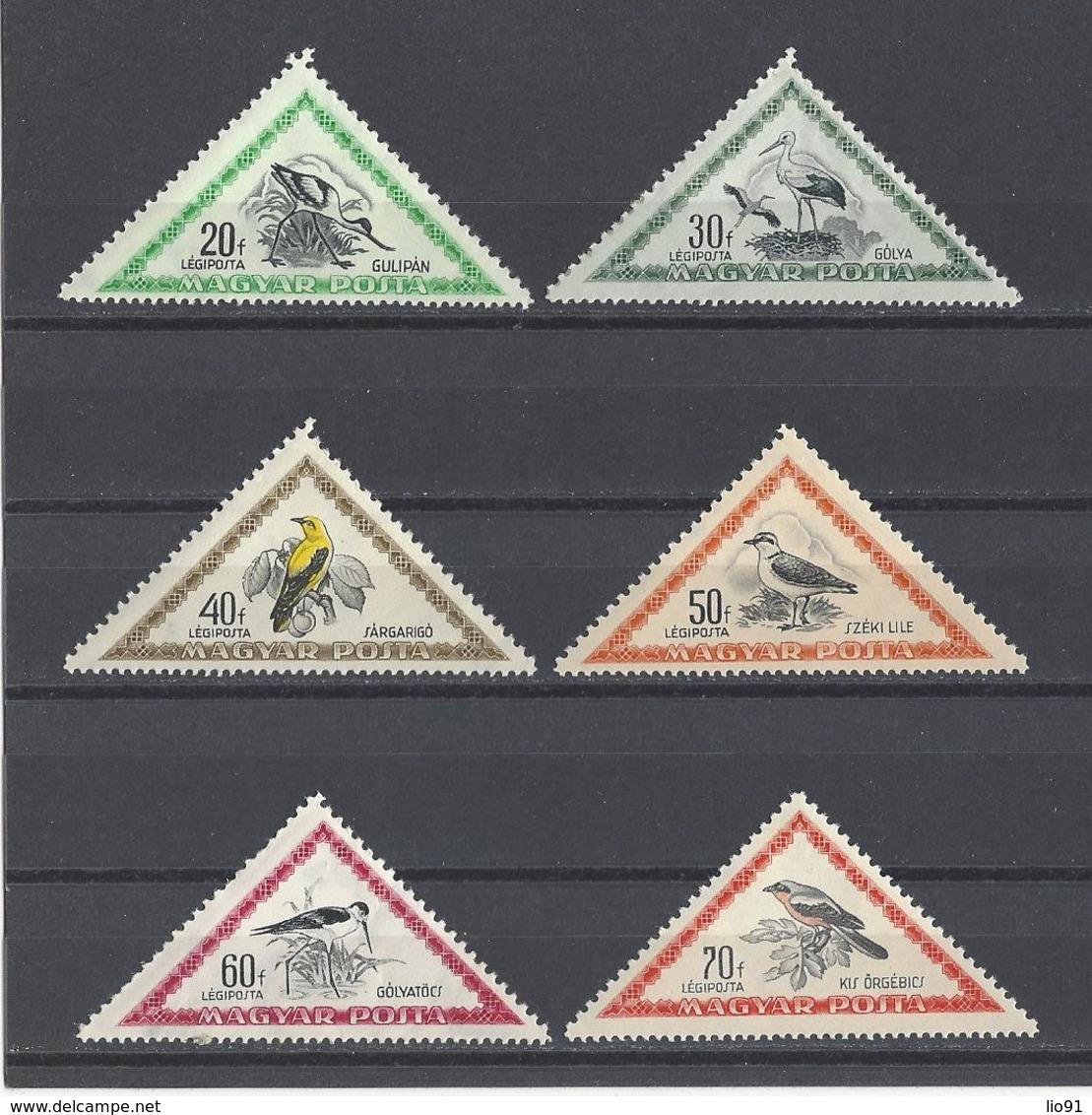 HONGRIE. YT PA 119/129  Neuf **  Oiseaux Divers 1952 - Poste Aérienne