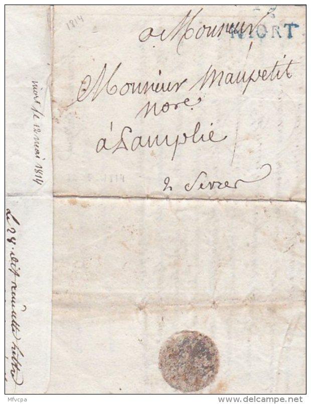 L4A014 France Lettre Niort Pour Samplies Deux Sèvres 1814 - Marcophilie (Lettres)