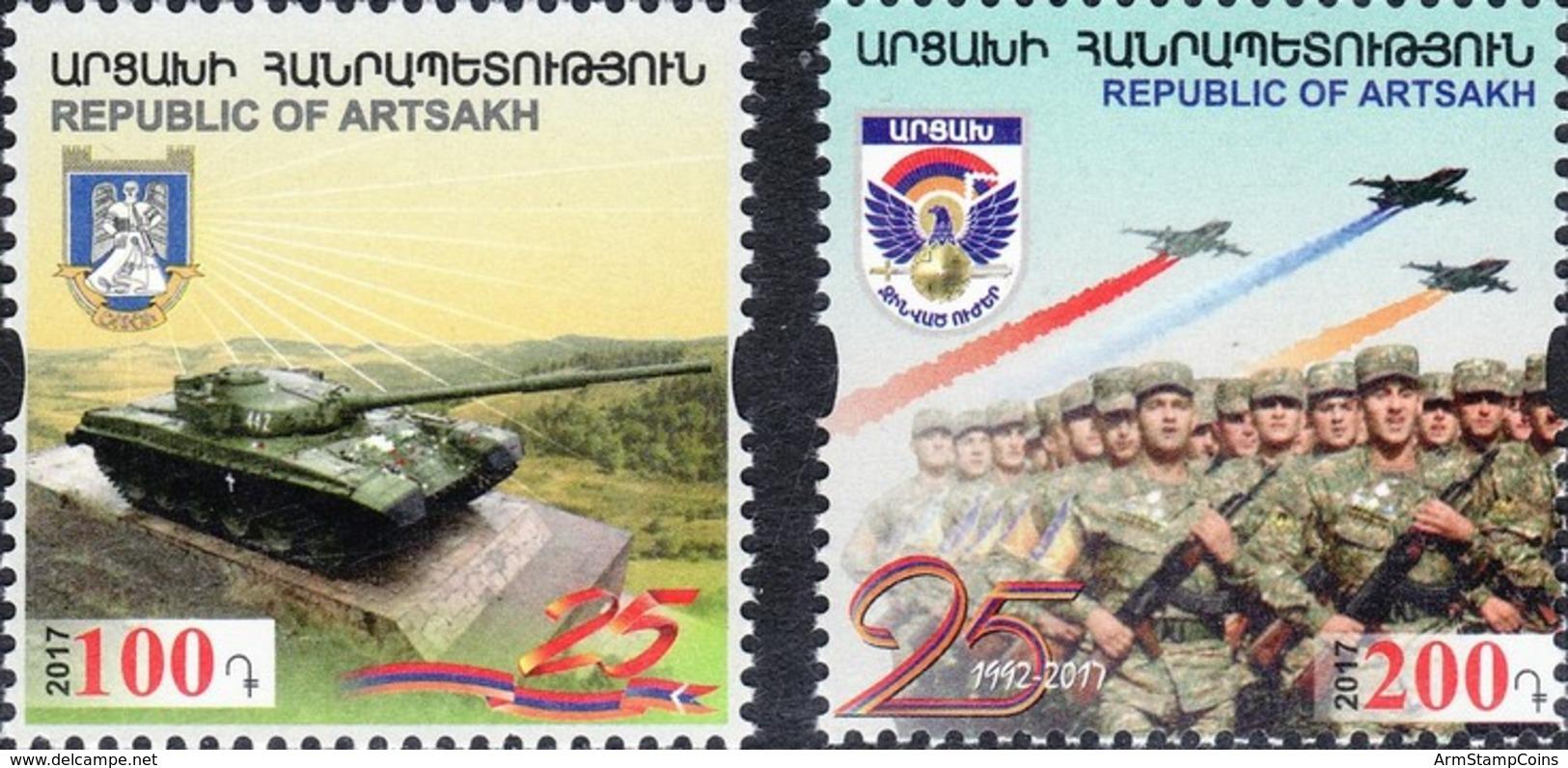 Armenia - Nagorno Karabakh Artsakh 2017 25th Anniversary Of Liberation Of Shushi Monument (tank) Army Of Artsakh MNH** - Armenia