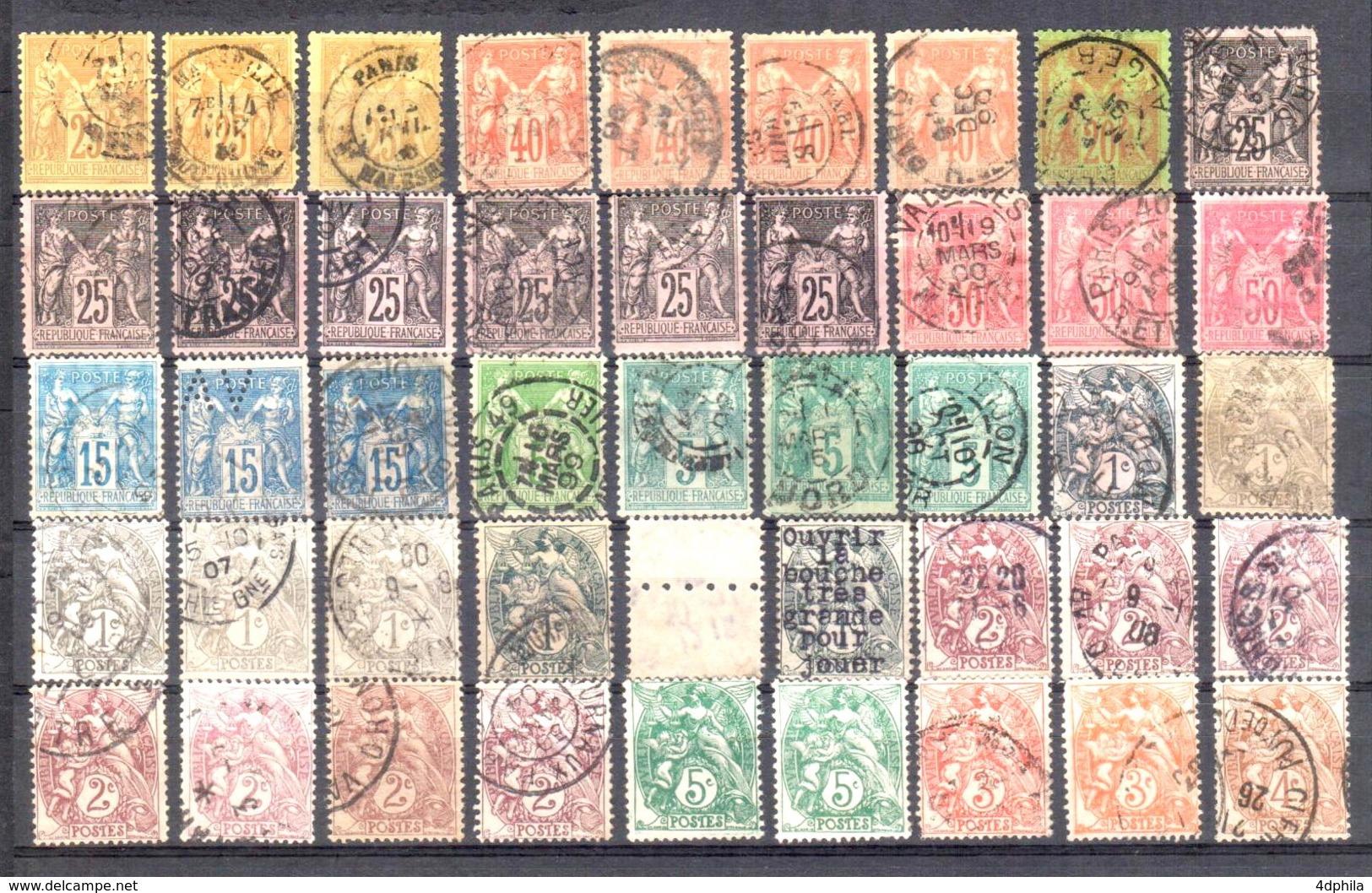 France - Collection 259 Timbres Dès 1853, Forte Cote - France