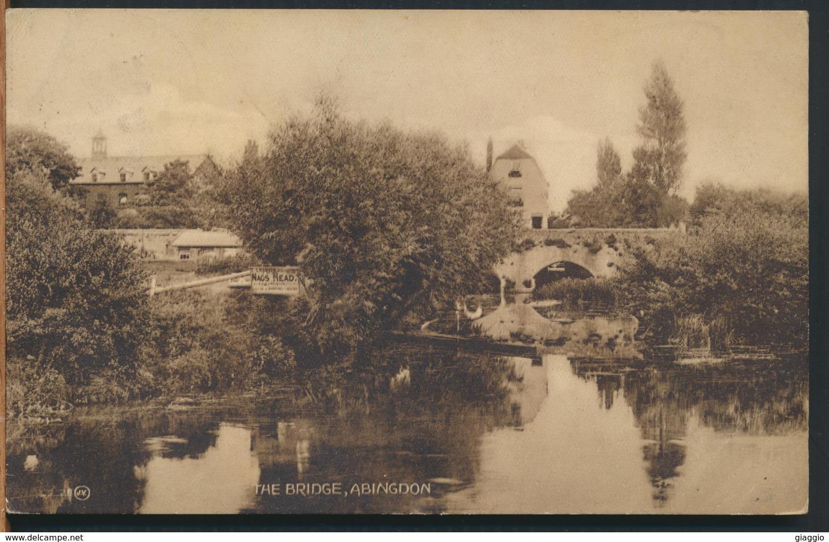 °°° 11666 - UK - THE BRIDGE , ABINGDON - 1929 With Stamps °°° - Inghilterra