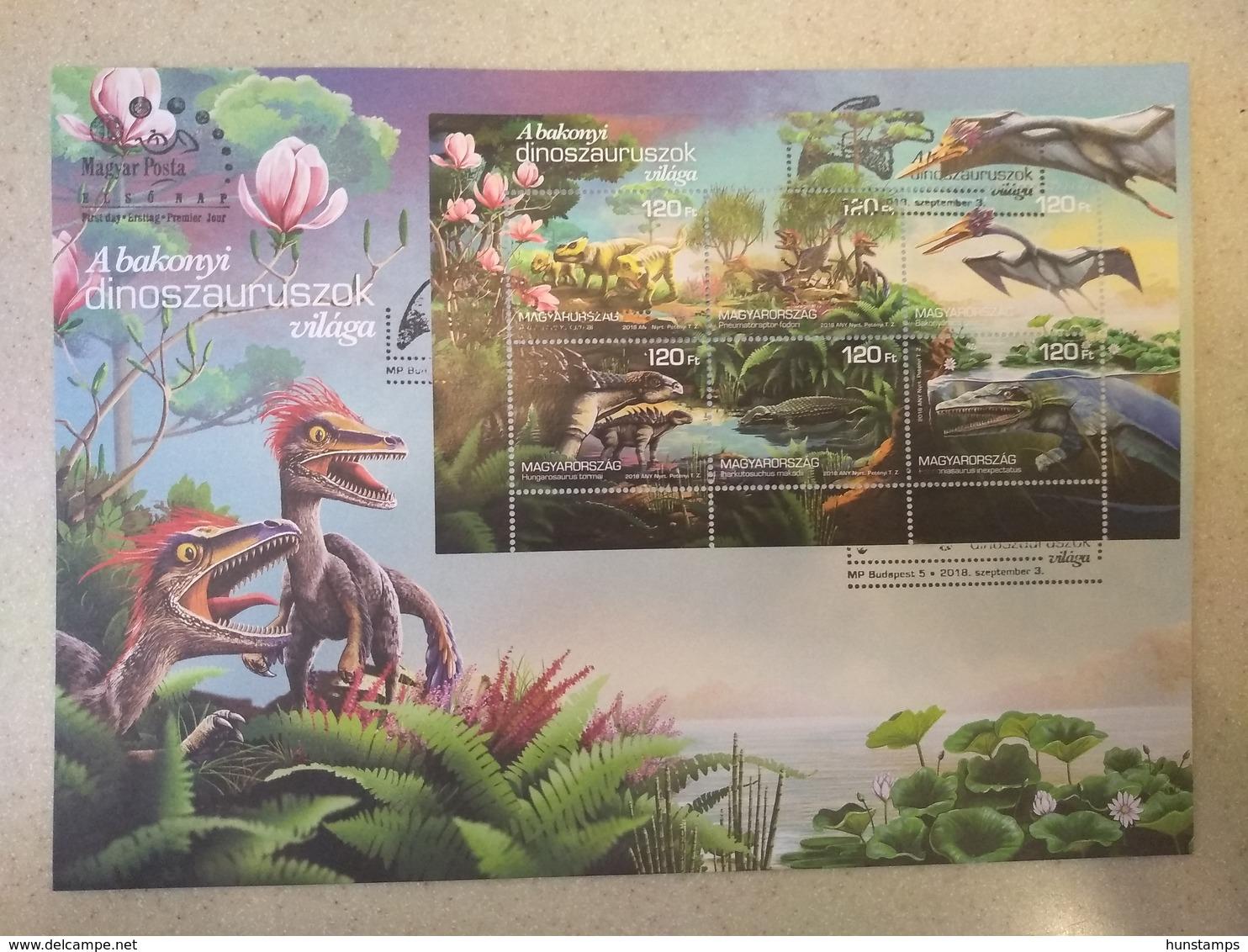 Hungary 2018. Animals / Flowers / Dinosaurus Very Nice Sheet On FDC - Briefmarken
