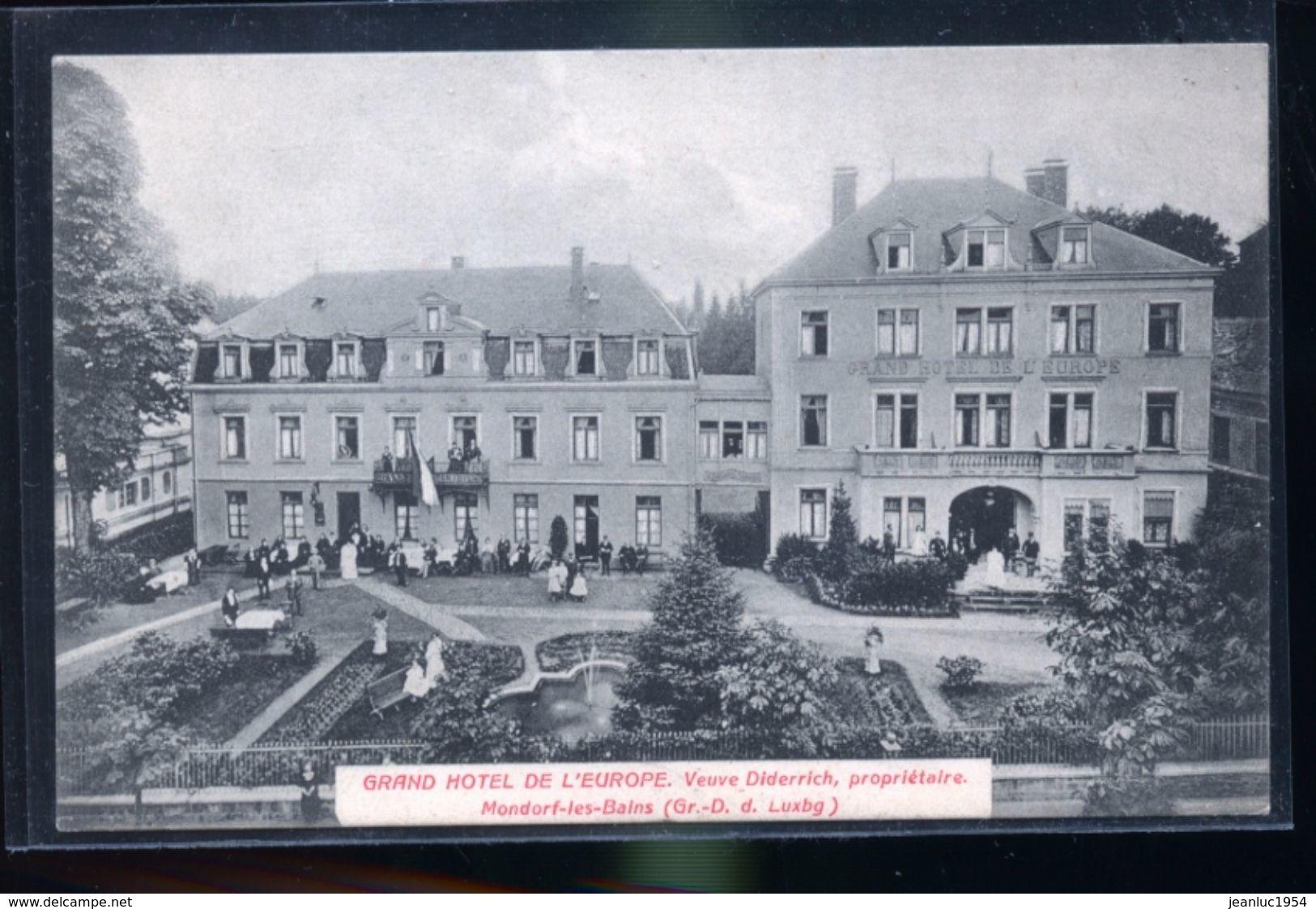 MONDORF HOTEL VEUVE DIDERRICH - Postales