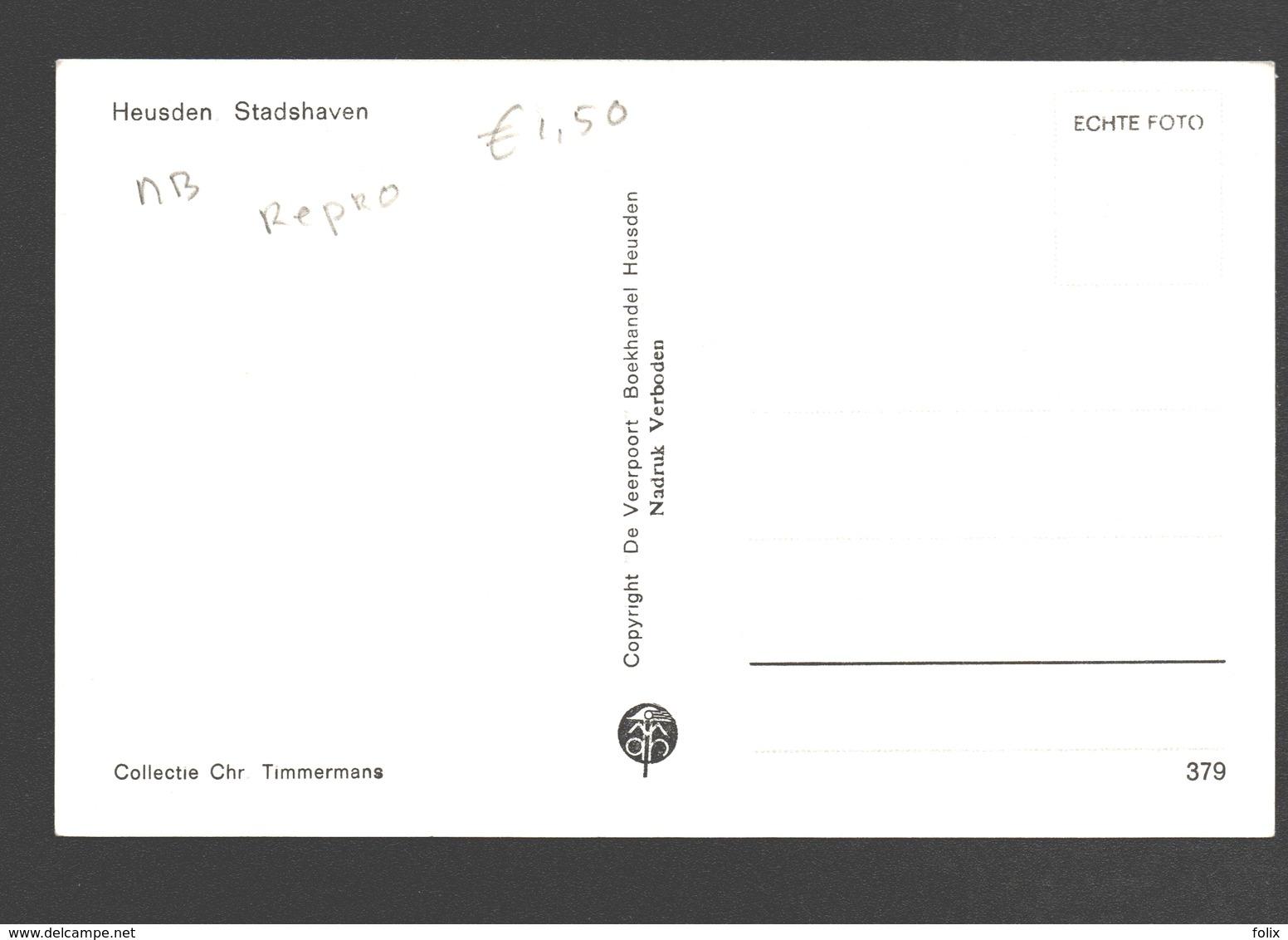 Heusden - Stadshaven - Groet Uit Heusden - Reproductie Uitgave De Veerpoort, Boekhandel Heusden - Vissersboot - Pays-Bas