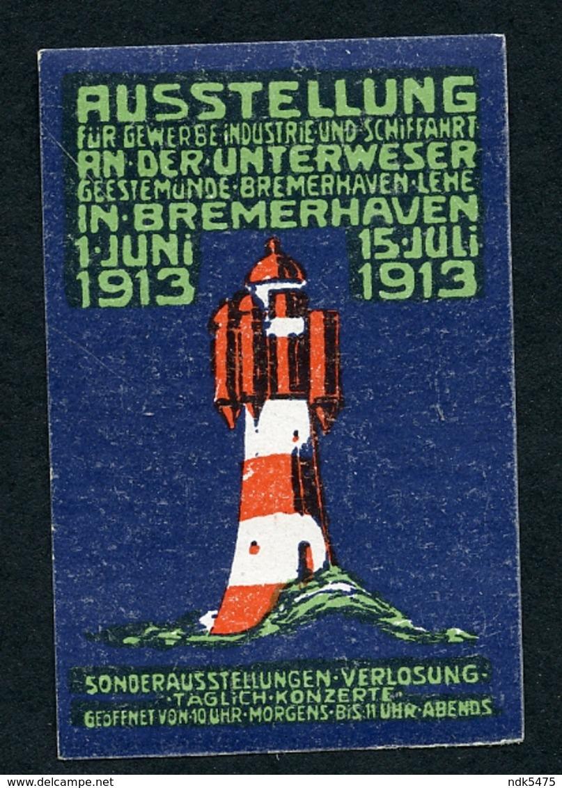 CINDERELLA : AUSSTELLUNG - BREMERHAVEN 1913 (A) - Cinderellas