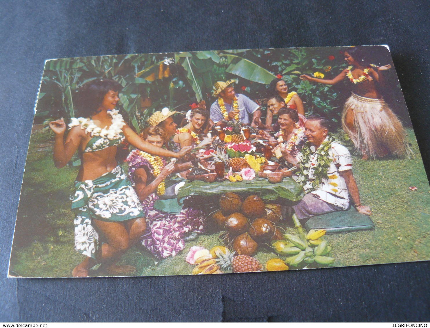 1951 ANCIENT BEAUTIFUL SMALL POSTCARD OF SAMOA  / ANTICA  PICCOLA CARTOLINA  VIAGGIATA DI SAMOA - Samoa Américaine