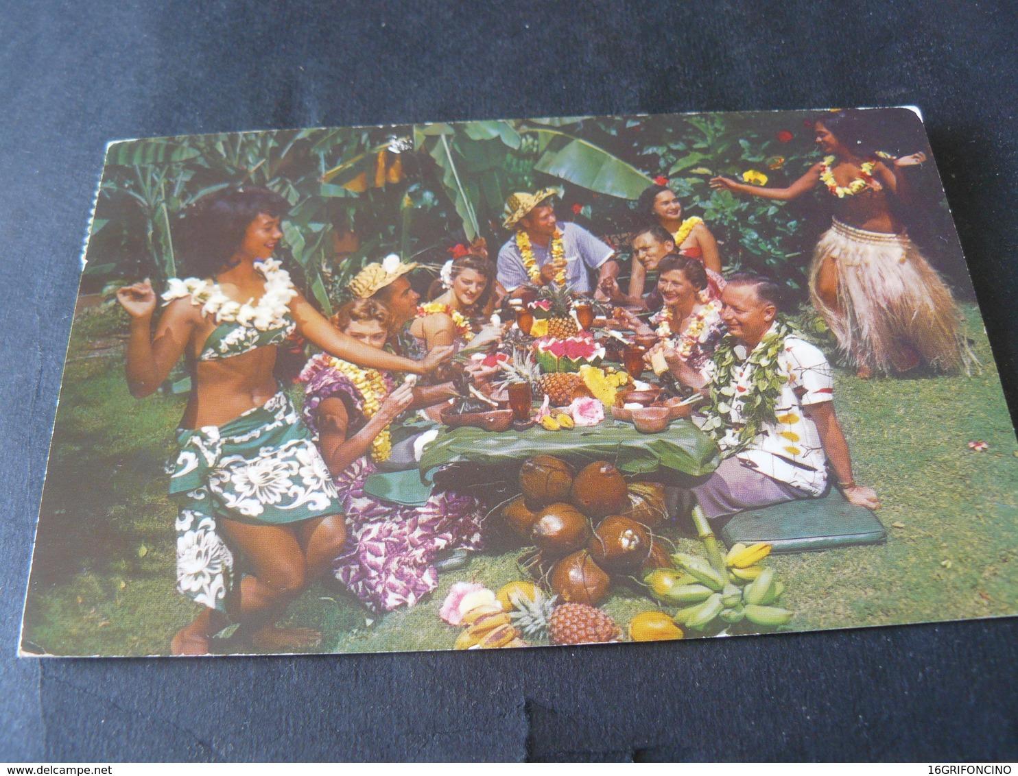 1951 ANCIENT BEAUTIFUL SMALL POSTCARD OF SAMOA  / ANTICA  PICCOLA CARTOLINA  VIAGGIATA DI SAMOA - Samoa Americana
