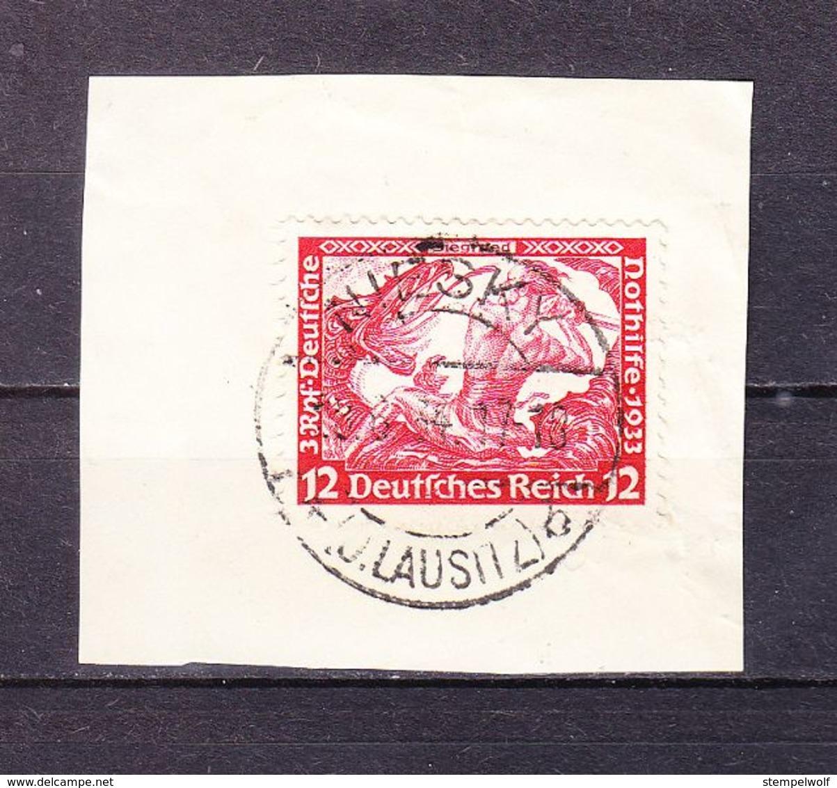 Briefstueck, EF Nothilfe Siegfried, OT Niesky 1934 (56809) - Marcofilie - EMA (Print Machine)