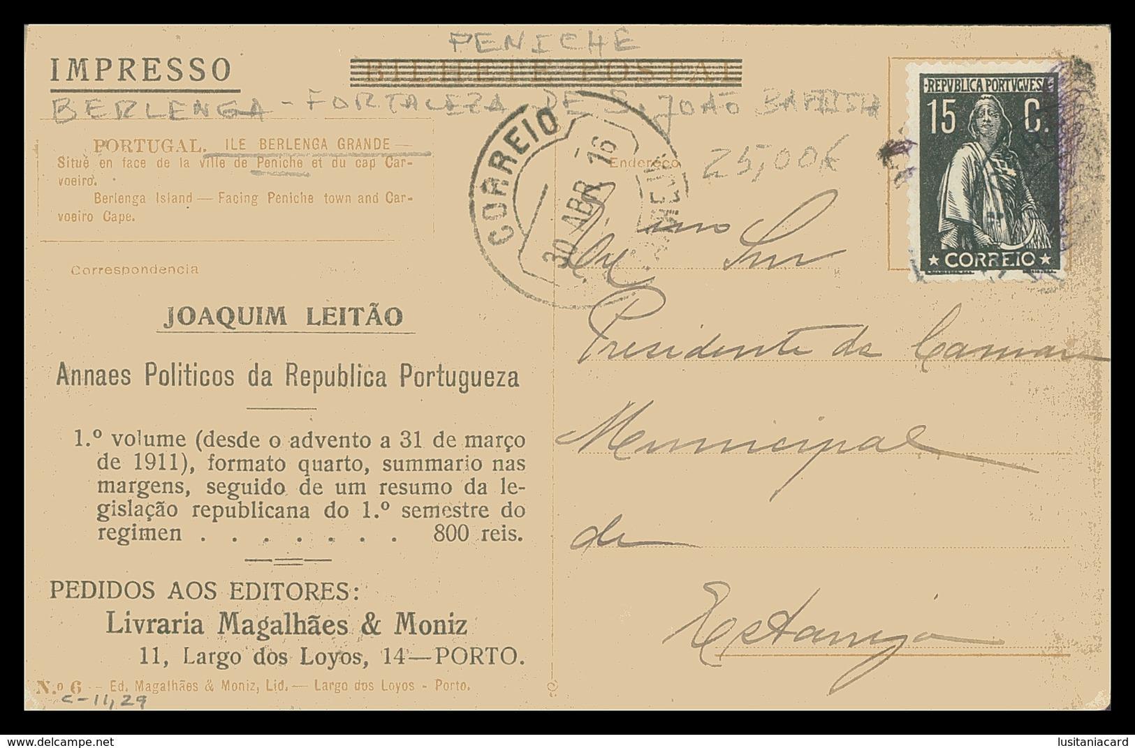 PENICHE - BERLENGA -  Fortaleza De S. João Baptista ( Ed.Magalhães & Moniz Nº 6) Carte Postale - Leiria