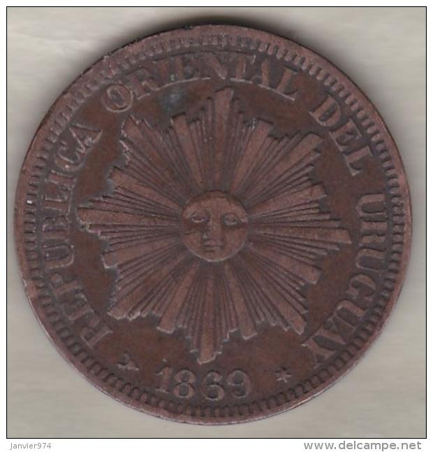 REPUBLICA ORIENTAL DEL URUGUAY. 4 CENTESIMOS 1869 H - Uruguay