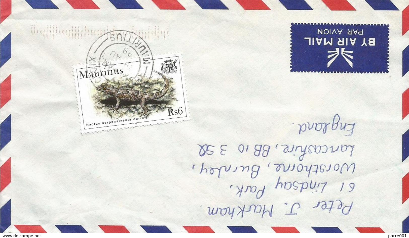 Mauritius 1998 Croix Lizard Nactus Serpensinsula Cover - Mauritius (1968-...)