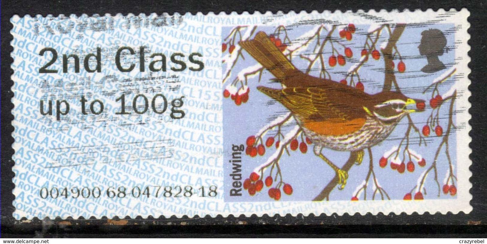 GB 2015 QE2 2nd Post & Go Redwing Bird Winter Fur & Feathers ( M106 ) - Great Britain