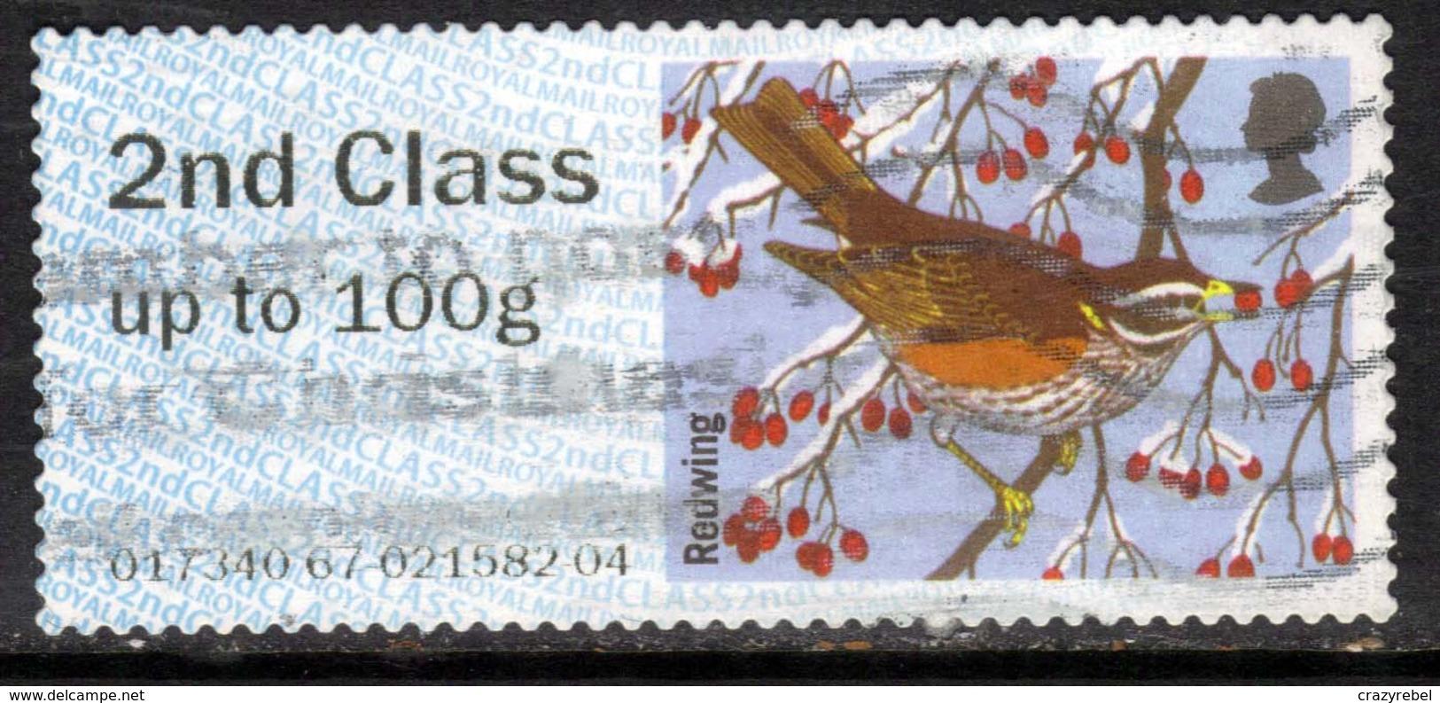 GB 2015 QE2 2nd Post & Go Redwing Bird Winter Fur & Feathers ( K765 ) - Great Britain