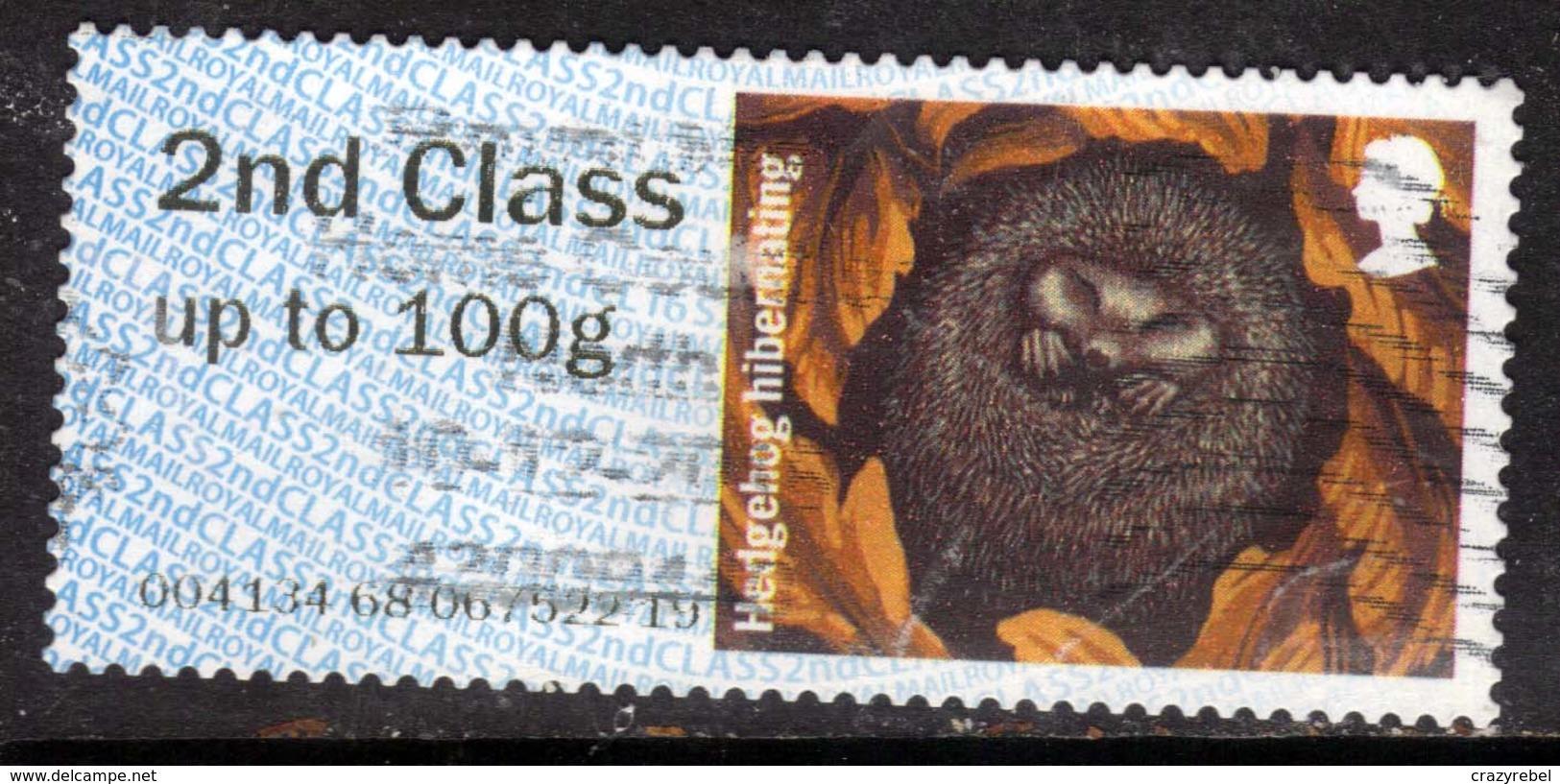 GB 2016 QE2 2nd To 100gms Post & Go Hibenating Hedgehog ( F1408 ) - Great Britain