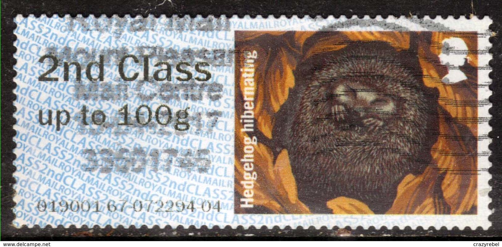 GB 2016 QE2 2nd To 100gms Post & Go Hibenating Hedgehog ( F1411 ) - Great Britain
