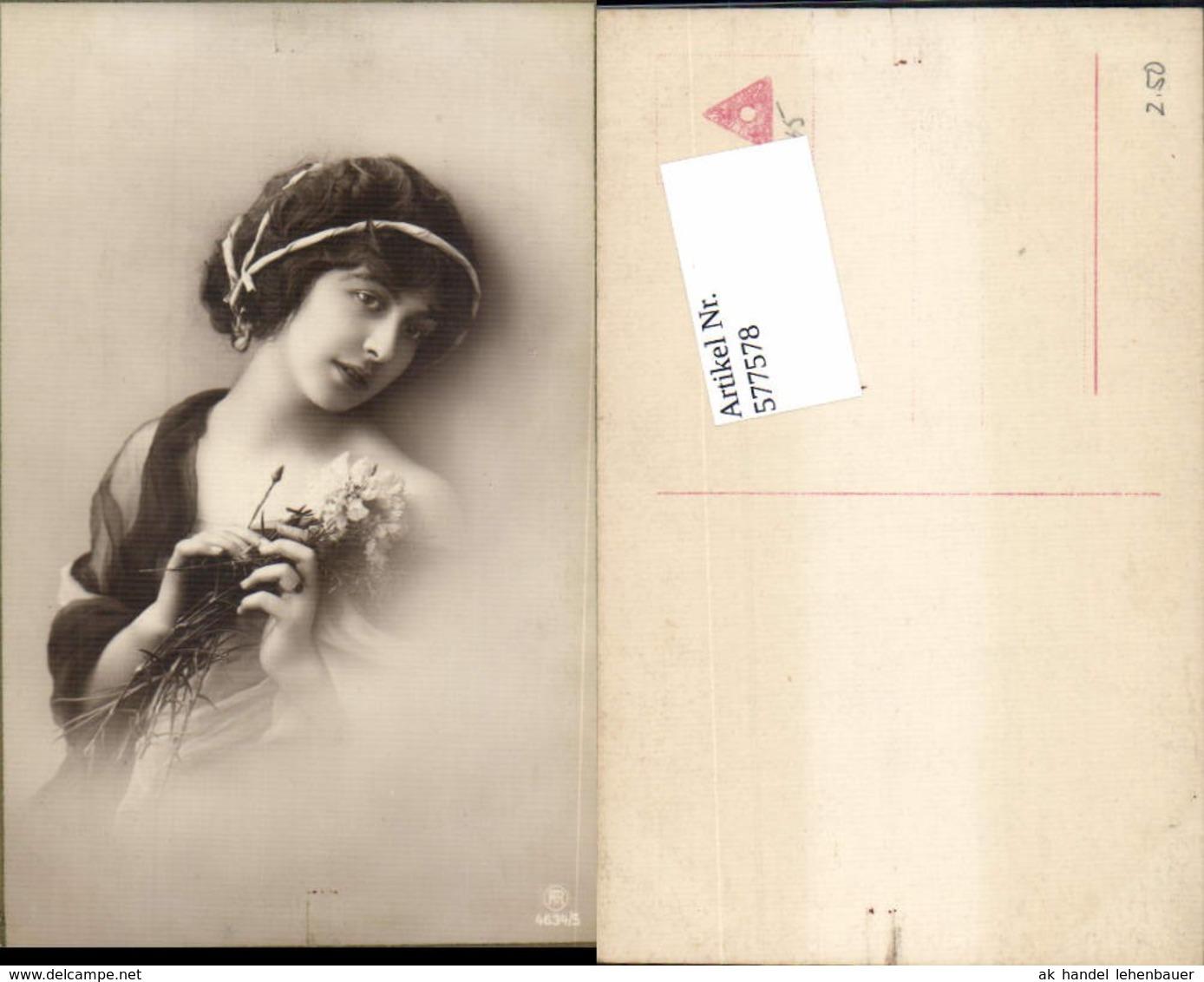 577578,Foto-AK Frau Erotik Risque Haarschmuck Pub RPH 4634/5 - Erotik Bis 1960 (nur Erwachsene)